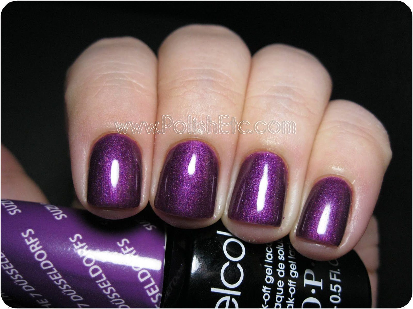 Opi Suzi And The 7 Dusseldorfs Swatch And Gelcolor Comparison