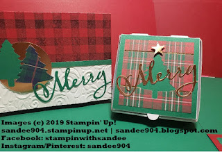 Perfectly Plaid Stamp Set, Pine Tree Punch, Scallop Tag Topper Punch, #handmade #holidaycards #ilovepapercrafts #quickneasy #simplestamping