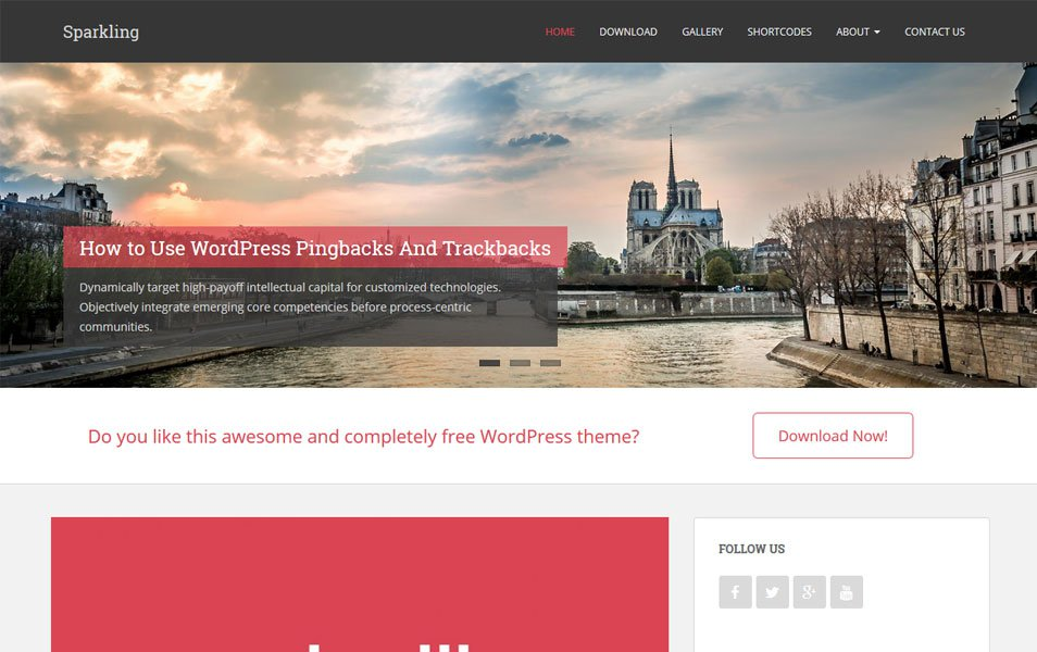Sparkling Responsive WordPress Theme