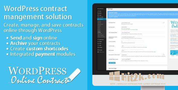 WP Online Contract 3.2 WordPress Plugin Extended License