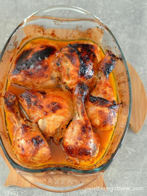 Kurczak w marynacie musztardowo-miodowej z ketchupem
