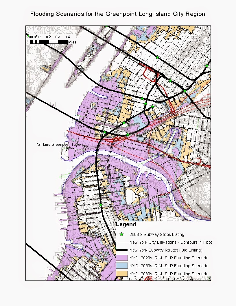New York Subway Map G Line.Streetcars And Spatial Analysis Some Flooding Scenario Maps For