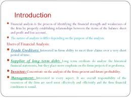 Introduction to Financial Ratio Analysis