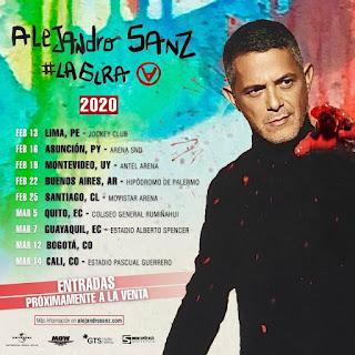 ALEJANDRO SANZ Gira 2020 Latinoamérica