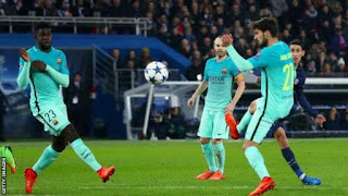 Champions League Result: PSG  4-0 Barcelona