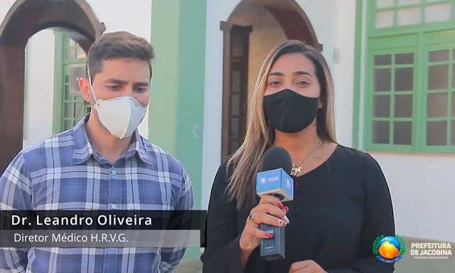 Jacobina: Diretor do Hospital Regional Dr.Leandro Oliveira fala sobre redução de leitos de UTI :Veja o Vídeo