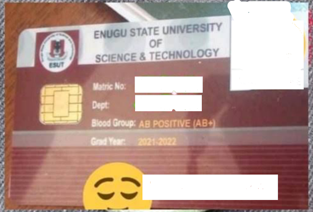 HOW TO GET YOUR ESUT SCHOOL I.D CARD  WITH EASE