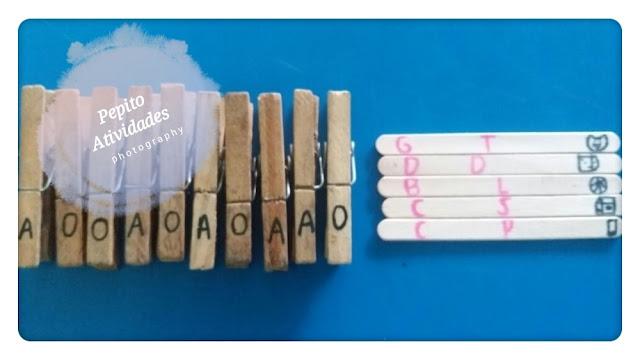 Jogo educativo infantil-Alfabetização  com material concreto