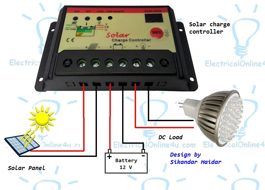 How To Connect Solar Panel To Battery With MPPT Solar Charge