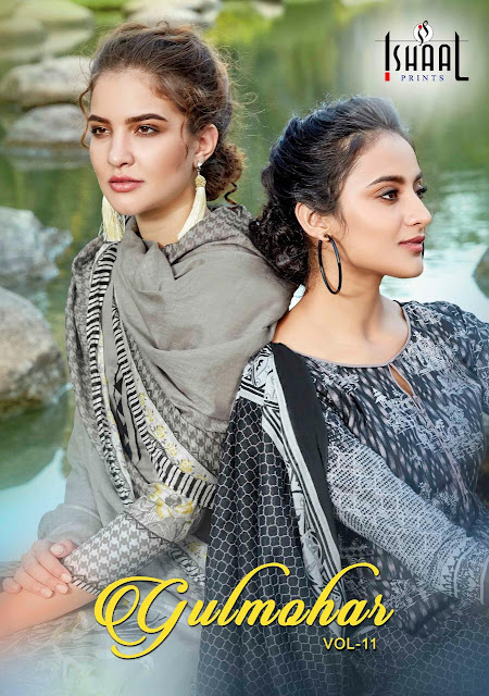 Ishaal print Gulmohar vol 11 Lawn Suits wholesale