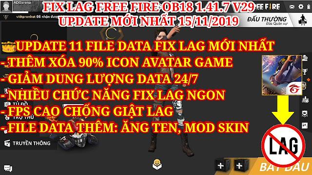 FIX LAG FREE FIRE OB18 1.41.7 V29 - UPDATE XÓA 90% ICON VẬT PHẨM, GIẢM GIẬT LAG TỐI ĐA CHO MÁY YẾU