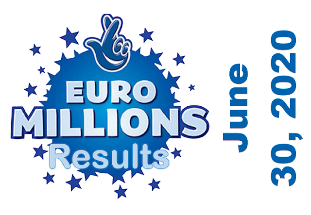 EuroMillions Results for Tuesday, June 30, 2020