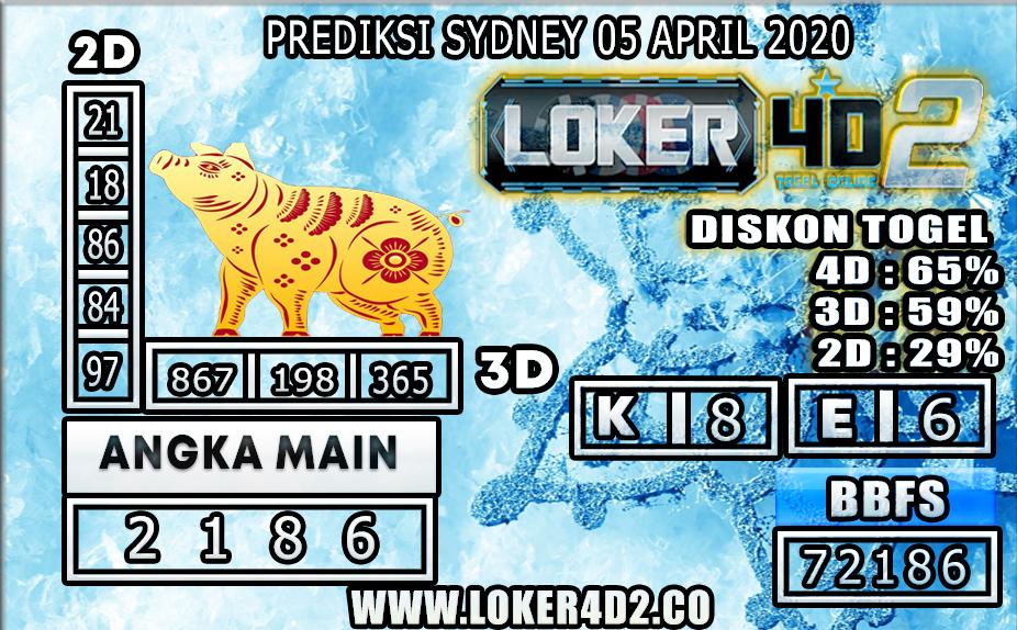 PREDIKSI TOGEL SYDNEY LOKER4D2 05 APRIL 2020