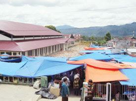 p1 Angsuran Kios Pasar Sipirok Terlalu Mahal, Pedagang Terancam Gulung Tikar