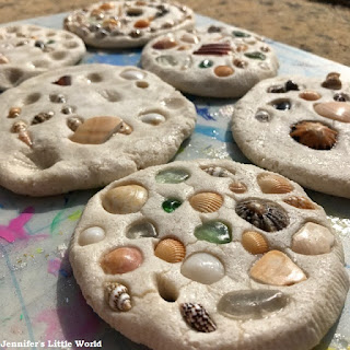 Salt dough drying in the sun