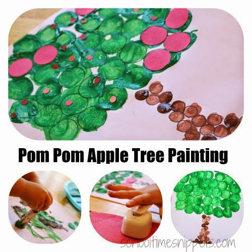 apple fine motor skills craft