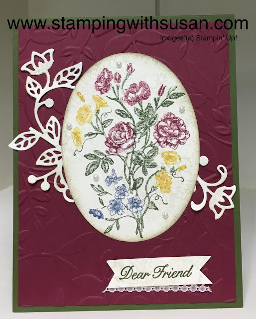 Stampin' Up! Layering Ovals, Very Vintage, Flourish Thinlits, Stampin'  Write Markers,