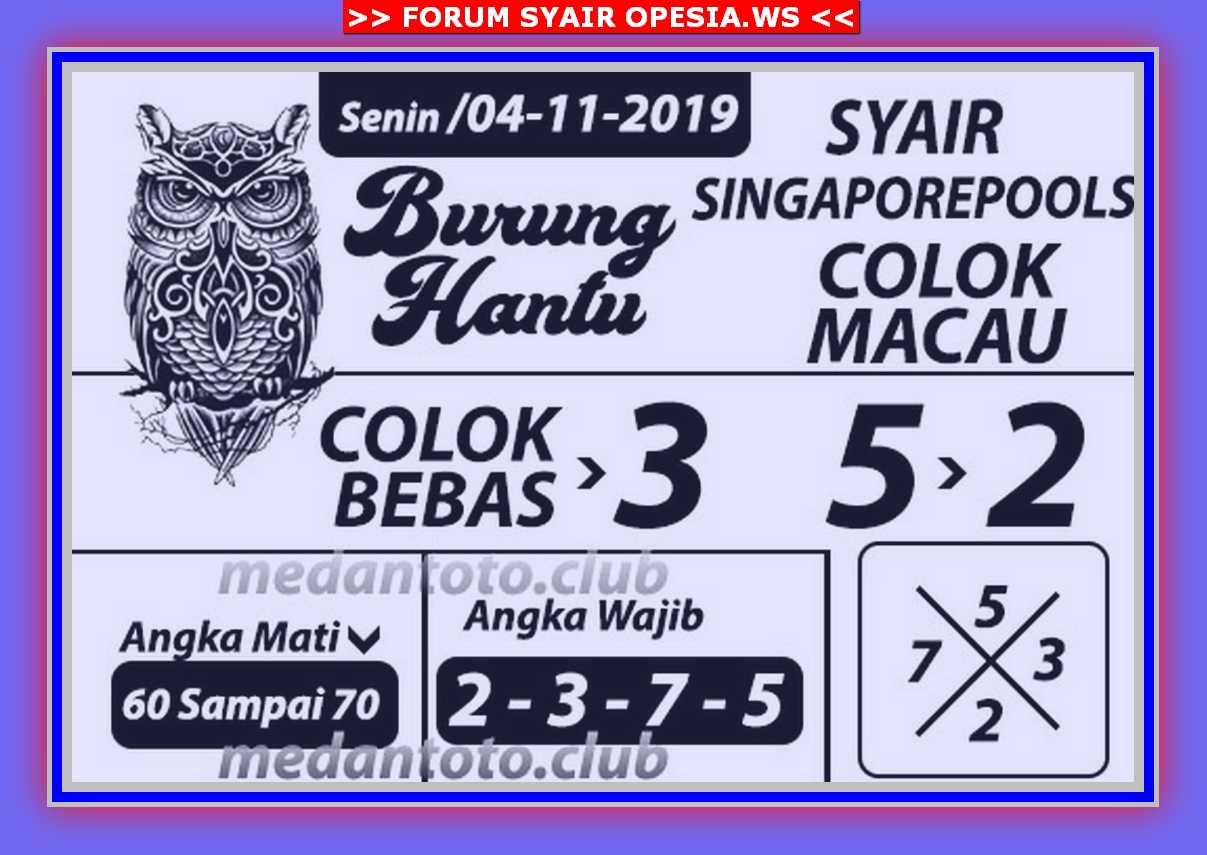 Kode syair Singapore Senin 4 November 2019 91