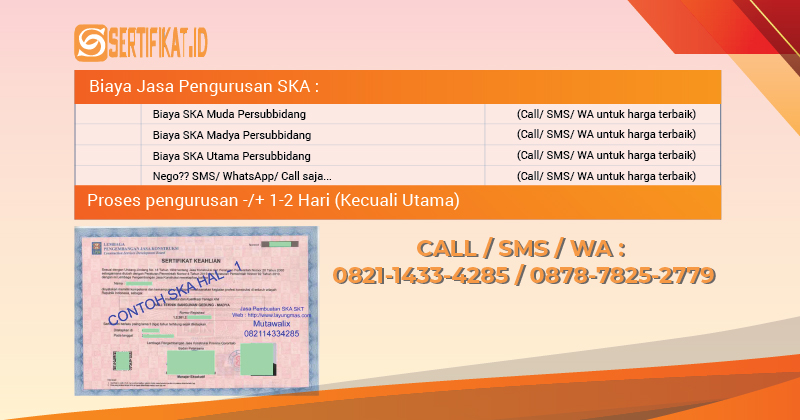 jasa sertifikat SKA