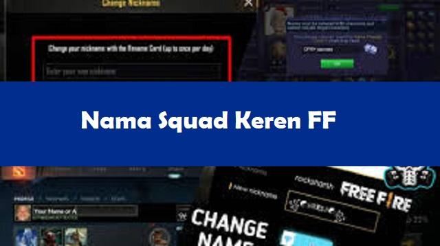 Nama Squad Keren FF