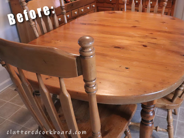 Kitchen Table & Chairs Get a New Look / Farmhouse Style