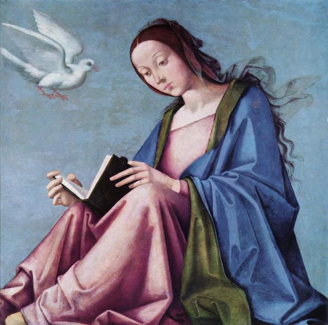 Лоренцо Коста Lorenzo Costa  - Благовещение (Читающая Мария)