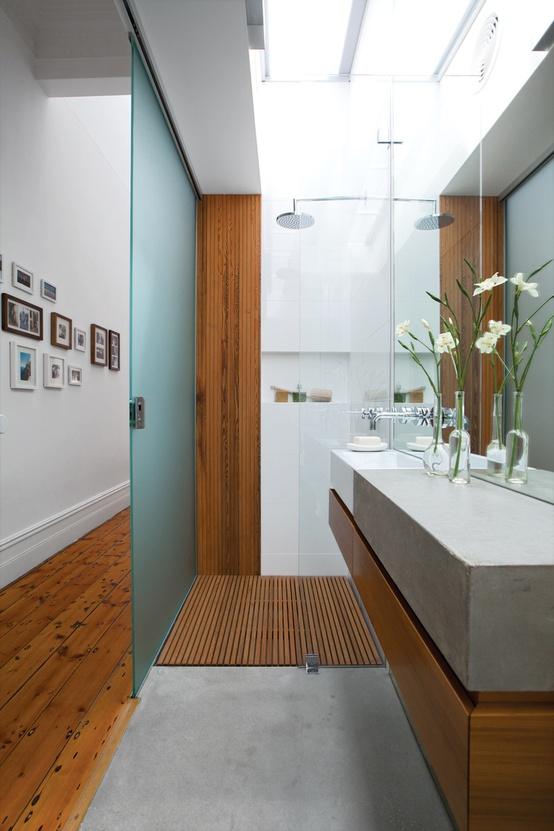 bicycle basket: Interior Design: Small Bathroom Solution
