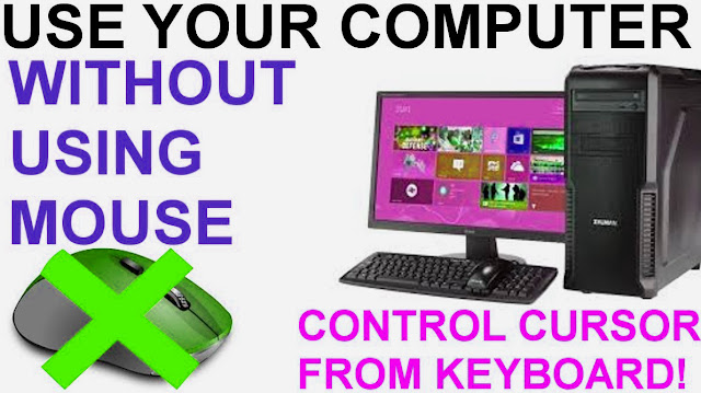 How to run a computer without a mouse using the keyboard shortcut, How to run a computer without a mouse easy-simple,