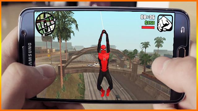 تحميل مود Spider man لي لعبة GTA SA للاندرويد