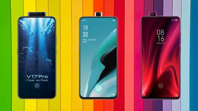Redmi K20 Pro, Oppo Reno 2Z and Samsung Galaxy A70
