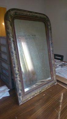 Bleu d 39 alizarine un pas pas pour un miroir for Reparation miroir