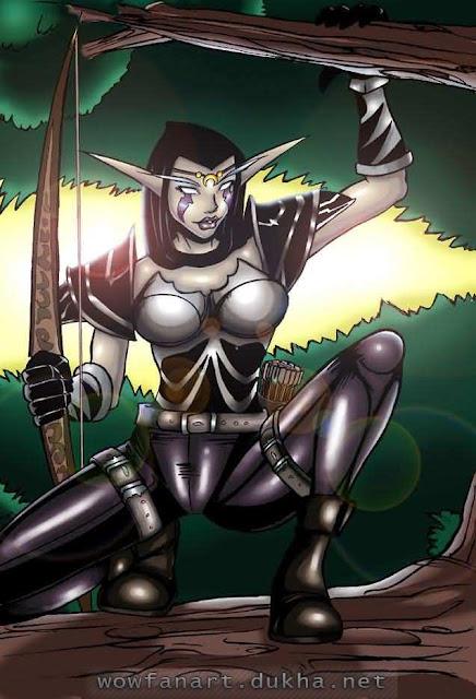 Ночная Эльфийка на охоте