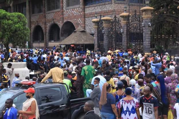 Photos: Thousands queue to say final farewell to TB Joshua