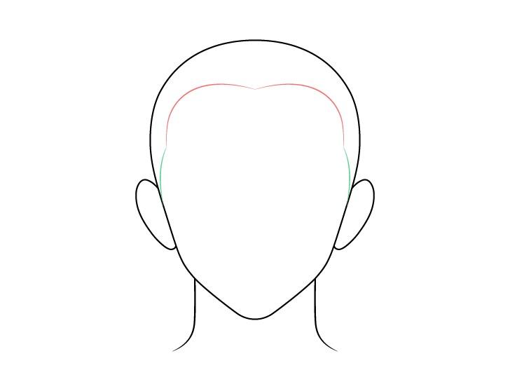 Anime buzz cut gambar sisi rambut pria