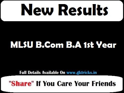 MLSU B.Com B.A 1st Year