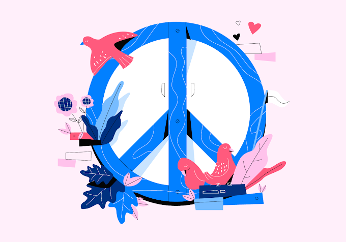 Love And Peace Background Vector Flat Concept Illustration free vector