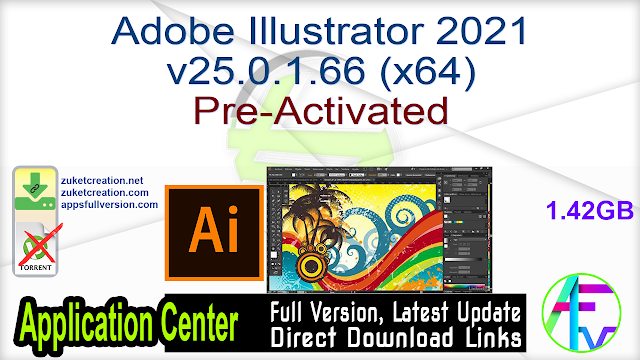 Adobe Illustrator 2021 v25.0.1.66 (x64) Pre-Activated