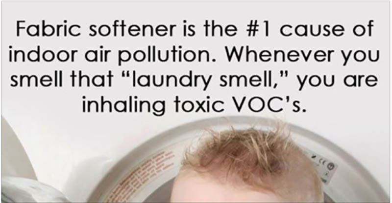 Fabric softener is the #1 cause of indoor air pollution. Make your own with this DIY recipe