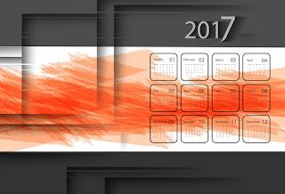 2017カレンダー無料テンプレート204