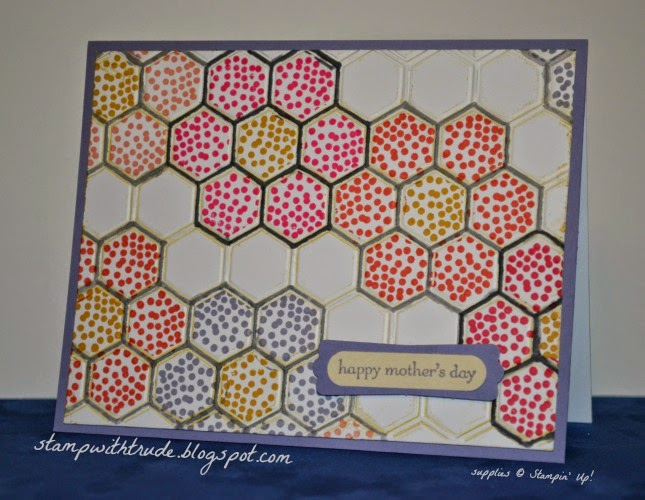 stampwithtrude.blogspot.com , Stampin' Up!, Honeycomb Hello, Mother's Day card, floral card, Trude Thoman