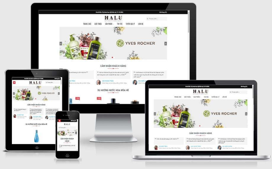 Theme blogspot bán mỹ phẩm halu, VSM22 - Ảnh 1