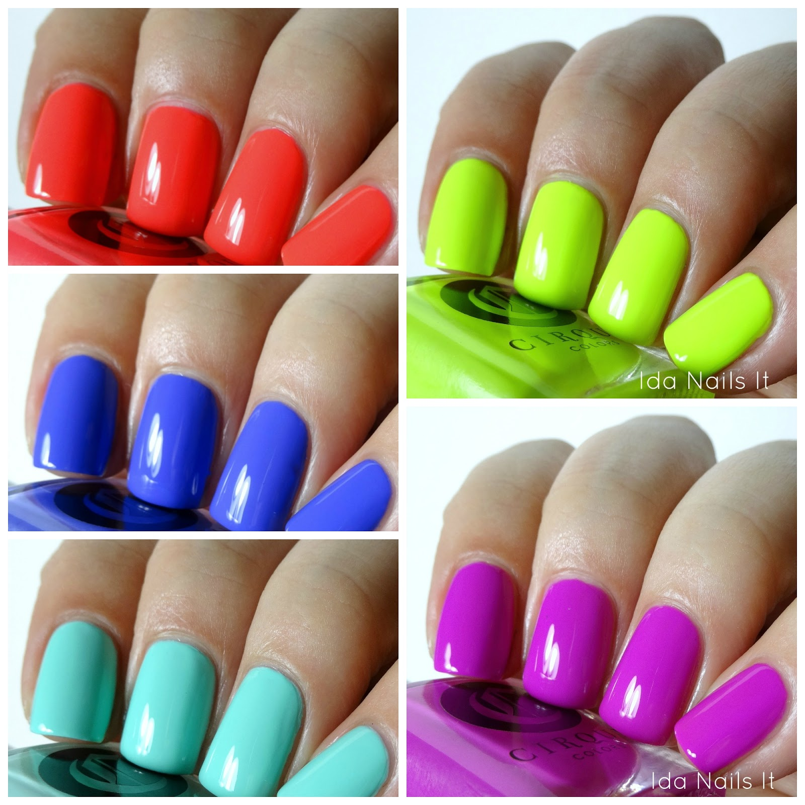 Ida Nails It: Cirque Colors Vice 2016 Collection: Swatches and Review
