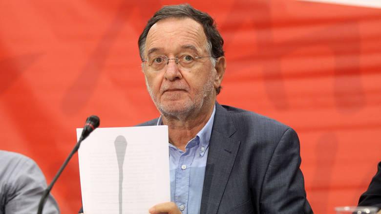 Ο Παναγιώτης Λαφαζάνης δήλωσε παράιτηση από την ηγεσία της ΛΑ.Ε