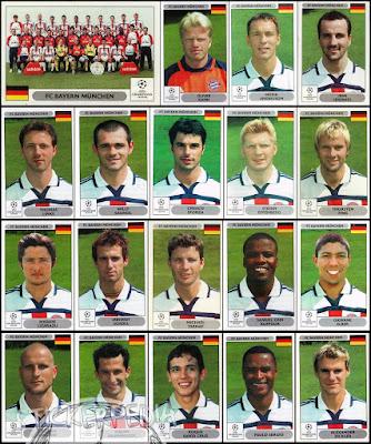 Panini Champions League Bayern Munchen 2000/01