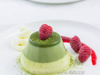 Layered Green Tea Panna Cotta