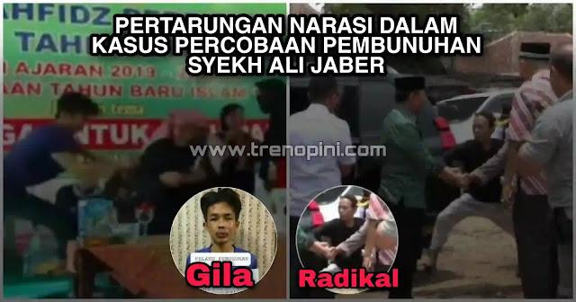 Narasi orang gila melakukan penyerangan kepada Ulama, termasuk melakukan penghinaan terhadap tempat ibadah umat Islam