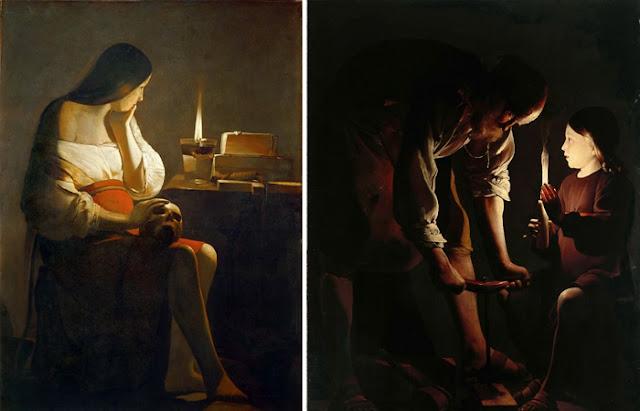"""Georges de Latour """"O Penitente Maria Madalena"""" e """"José, o Carpinteiro"""""""