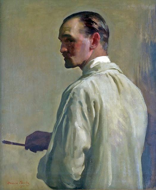 Oswald Birley, Self Portrait, Portraits of Painters, Fine arts, Portraits of painters blog, Paintings of Oswald Birley, Painter Oswald Birley     .