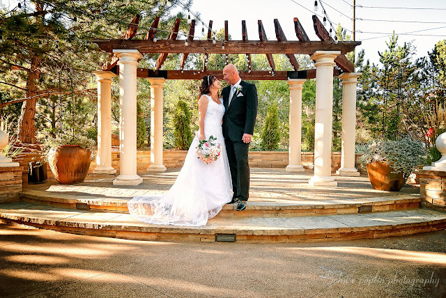 a stunning formal photograph of a bride and groom on their wedding day in Colorado