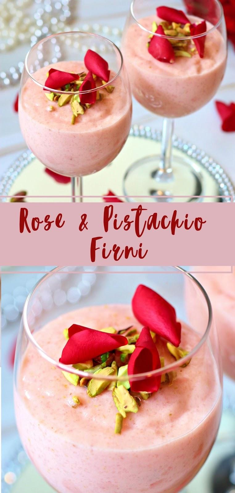 Rose & Pistachio Firni
